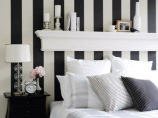 Black White Stripes Room Bedroom Romantic Wall. Diy Bedroom DecorBedroom ...
