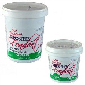 Fat Daddios Rolled Fondant - Dark Green - Vanilla - 8 oz Golda's Kitchen