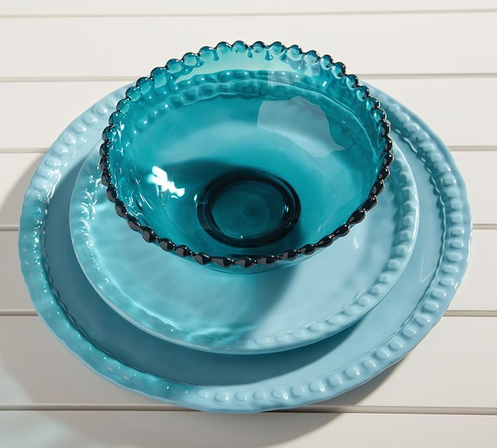 Turquoise Beaded Outdoor Dinnerware