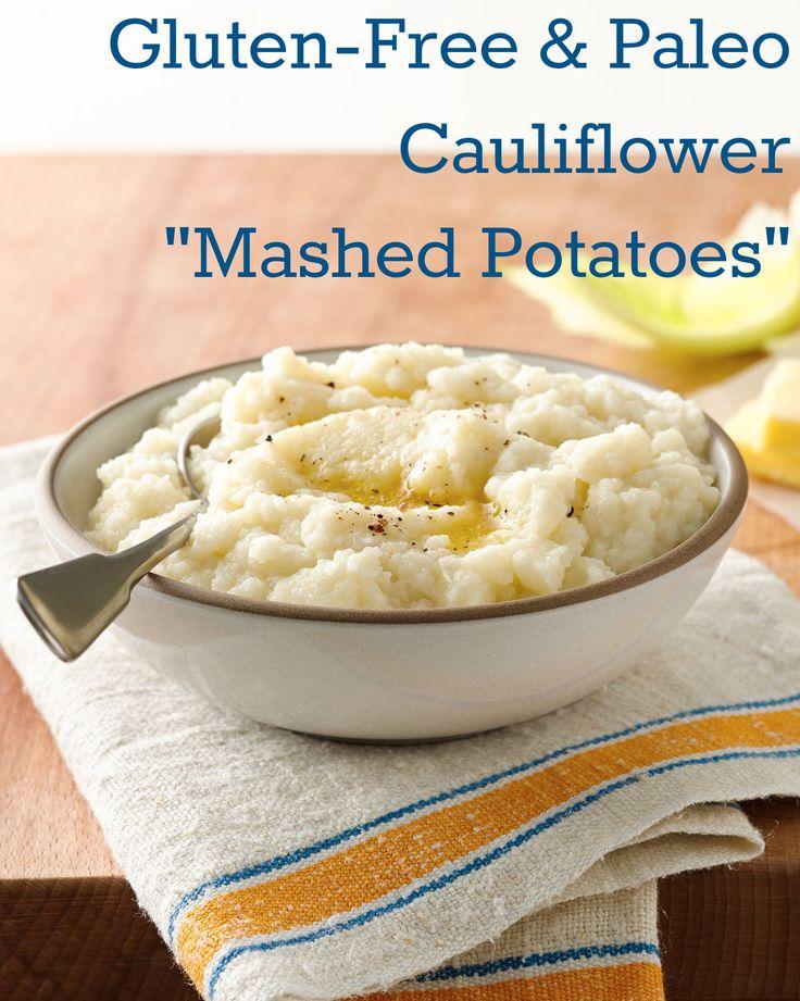 "Gluten-Free Paleo Cauliflower Mashed ""Potatoes"""