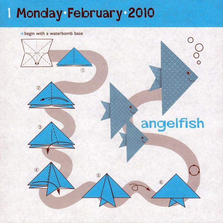 Origami Fish Base Instructions