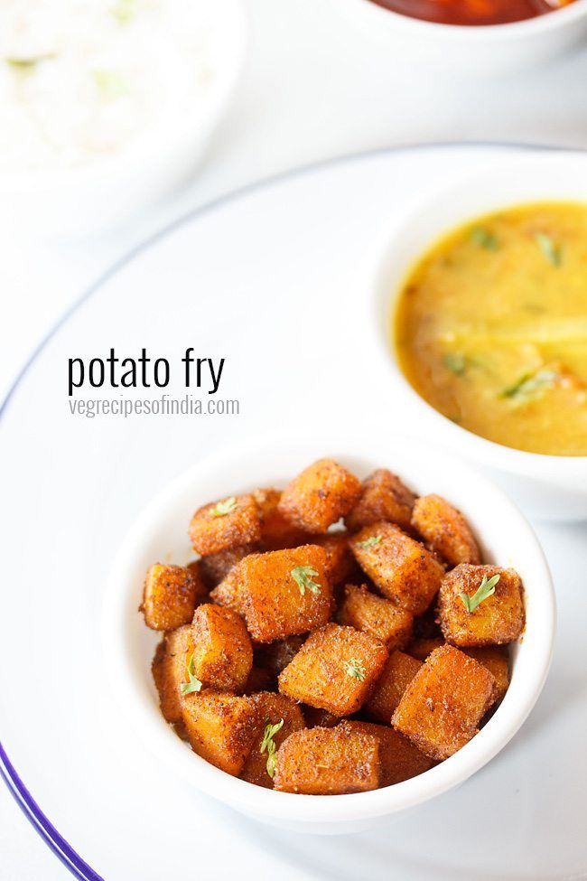 Potato fry recipe with step by step photos - simple, easy and tasty recipe of aloo fry.  #potatoes