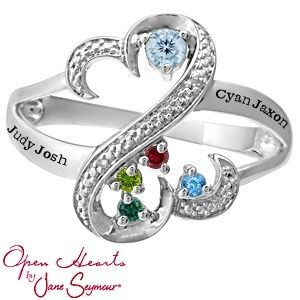 Open Hearts By Jane Seymour 174 Heart Mothers Ring Jewelry