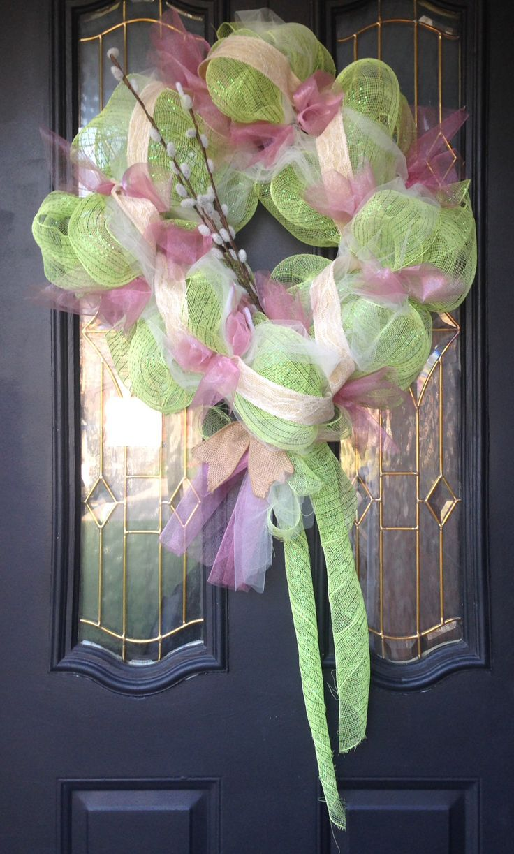 My new spring wreath I made:)