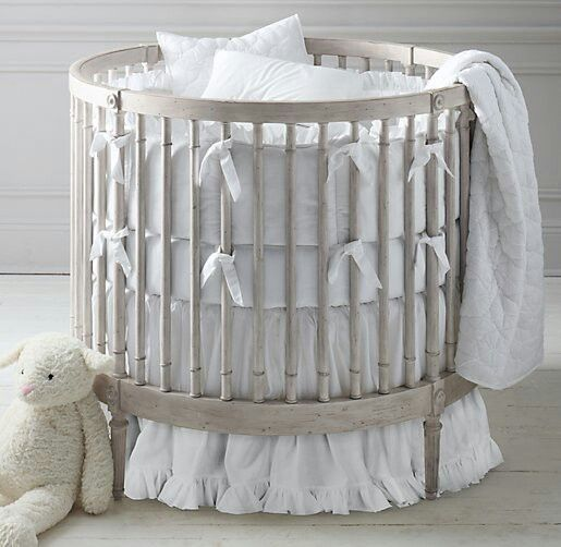 RH Baby U0026 Childu0027s Frayed Ruffle Round Nursery Bedding Collection:This  Charming Collection Borrows Its Heirloom Appeal From A Soft Textural Blend  Of Cotton ...