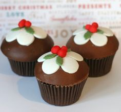 Chocolade  pudding  cupcakes