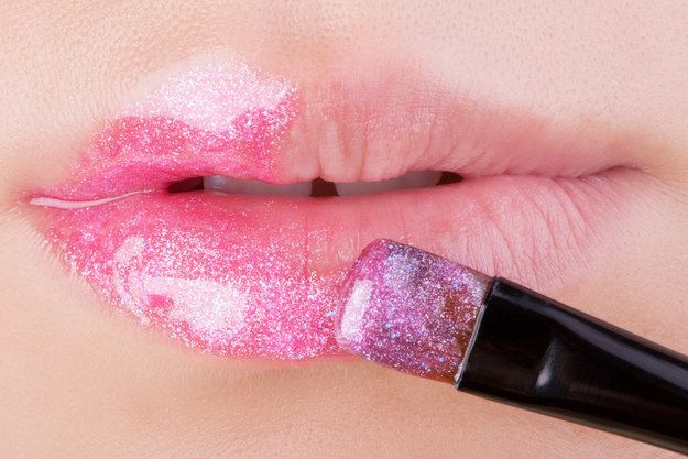 When we needed our lip gloss to shine brighter than the actual sun: