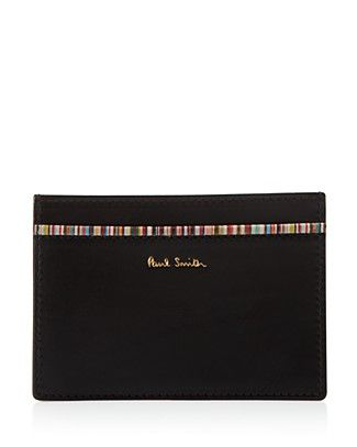 Paul Smith Striped Leather Card Holder
