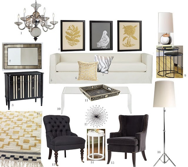 amusing living room west elm decorate shiny | 449 best images about Glam Chic - Living Rooms on ...