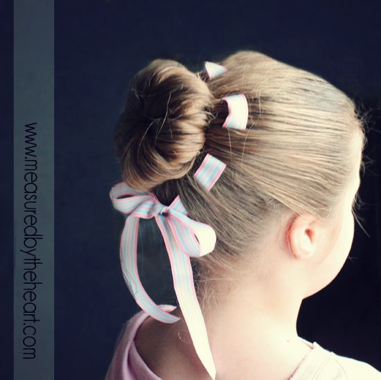 Woven Ribbon Bun I 37 Creative Hairstyle Ideas For Little Kids