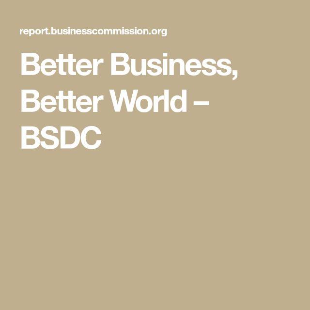 Better Business, Better World – BSDC