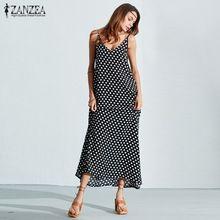 6 Цветов ZANZEA Dress 2017 Летние Женщины Без Бретелек Горошек случайные Свободные Длинные Maxi Dress Sexy Досуг Пляж Плюс Размер Vestidos(China (Mainland))