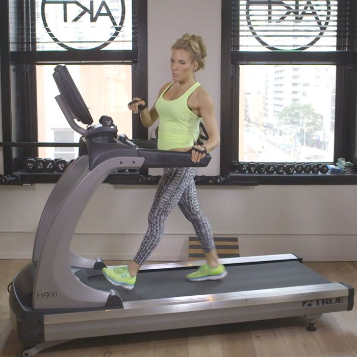 Even serious runners can dread time spent on a treadmill (maybe it's no surprise that a New TED Talk Says the Treadmill Was Once a Torture Device.) But this fat-blasting routine from Anna Kaiser,