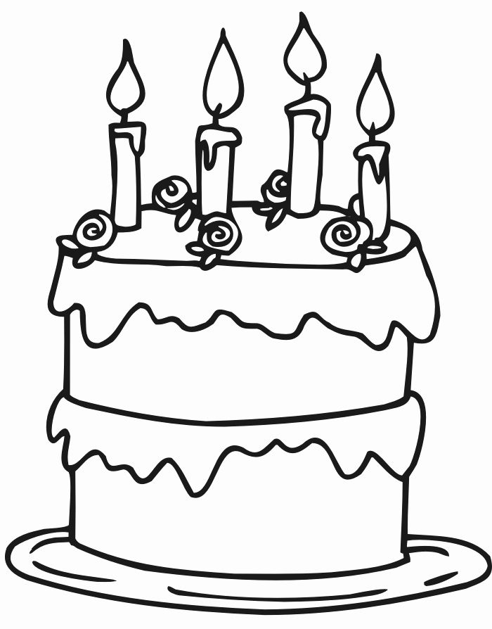 Coloring Page Birthday Cake Elegant Birthday Cakes Simple Birthday Cake Coloring P Birthday Coloring Pages Happy Birthday Coloring Pages Cupcake Coloring Pages