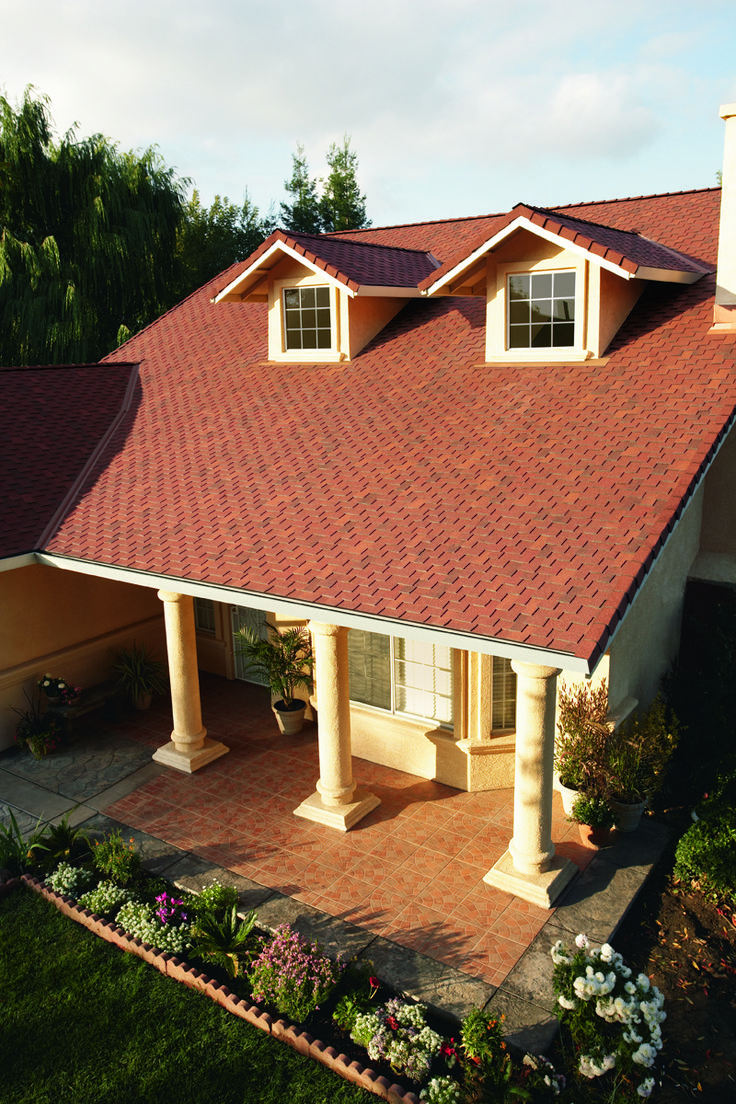 Red Rock Color Roofing Shingle Woodmore Style Home