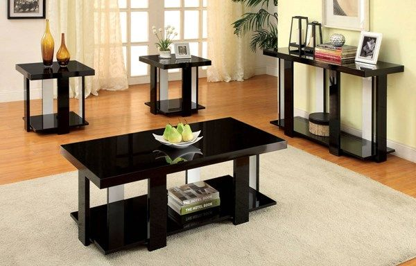 Furniture Of America Lakoti I 3pc Coffee Table Set Coffee Table