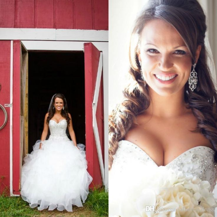 2016 Bling Sweetheart Ball Gown Organza Country Western Style Wedding Dress Bridal Gown Crystal Beaded Real Bridal Gowns High Quality Online with $145.9/Piece on Rosemarybridaldress's Store   DHgate.com