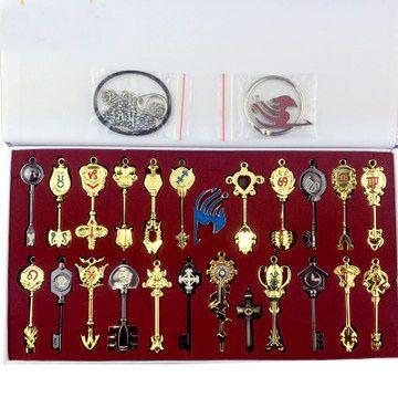 Fairy Tail Люси Ключ Знак Косплей Ключи (18/20/21/24/29 шт.) творческий Брелок рождество/подарок на день рождения новый год подарок