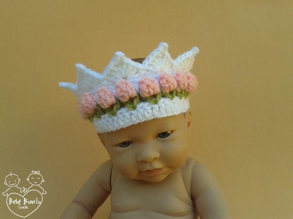 Coroa Em Crochê BABY ROSINHAS