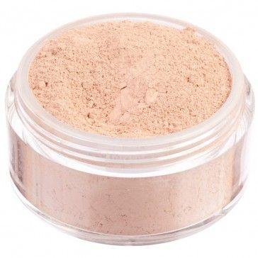 Fondotinta in polvere libera 100% minerale, nuova formulazione High Coverage ad alta coprenza. Tonalità chiara dal sottotono rosato.