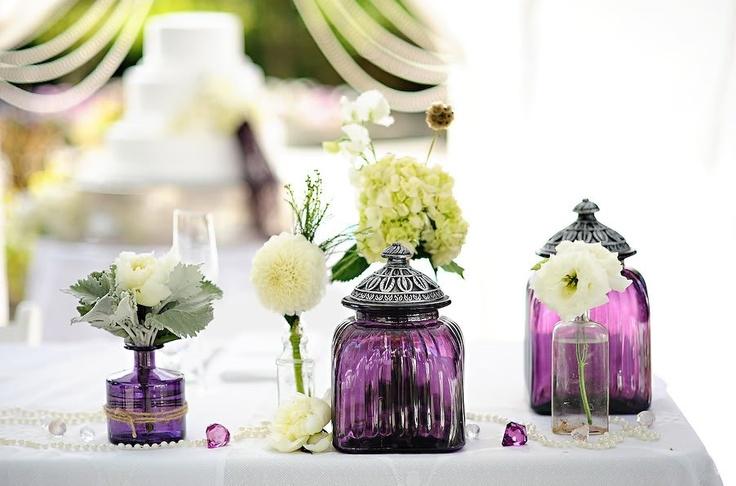 Purple vases