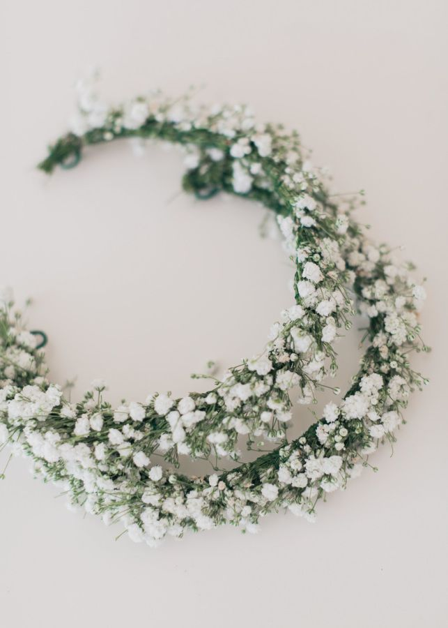 Baby's breath wedding crowns: http://www.stylemepretty.com/destination-weddings/2017/03/01/athens-riviera-wedding/ Photography: Adrian Wood - http://www.adrianwoodphotography.com/