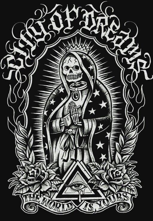 la santa muerte coloring pages - photo #39