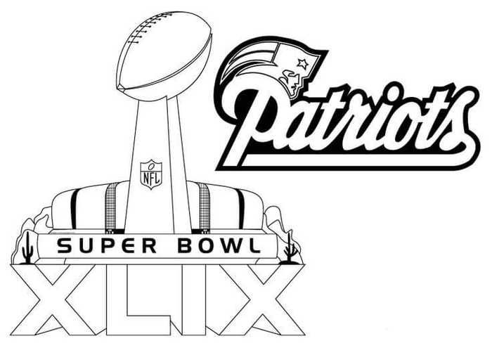 New England Patriots Coloring Pages Printable New England Patriots Colors Super Bowl Football Coloring Pages