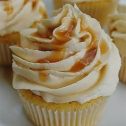 My daughter wants salted caramelcupcakes for her birthday, will try these. Almond Cupcake with Salted Caramel Buttercream Frosting - Allrecipes.com