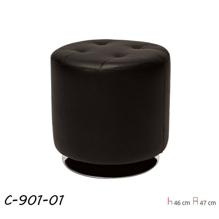 C-901 Puff Fekete  Anyaga: PU bőr színe: fekete.