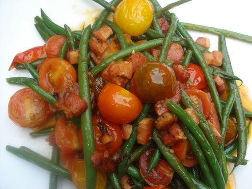 Warm Salad with Cherry Tomato,Haricot Vert and Pancetta | Recipe ...