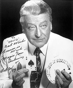 """Canadian """"Magic Tom""""  Auburn was a pioneer of magic on telivision."""