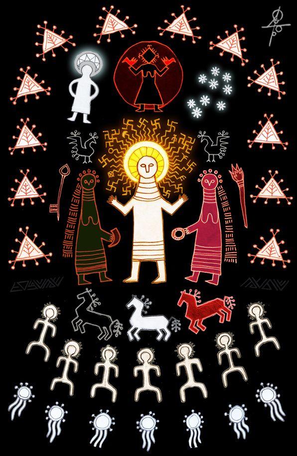 Maksym Suhariew,Car Słońce (Siłnce, Sounce, SouaRAżicz, Swarożyc, Pan Ognia Nadziemskiego, Niebieskiego) – My Słowianie to Soua-Wiano (Soł-wianie/Słowianie, oczywiście także stąd Sławić i Słowić – Sława i Słowo, oraz Matka Sława – SouaRA, Swara/Zwora, Pani Żaru Niebiańskiego)