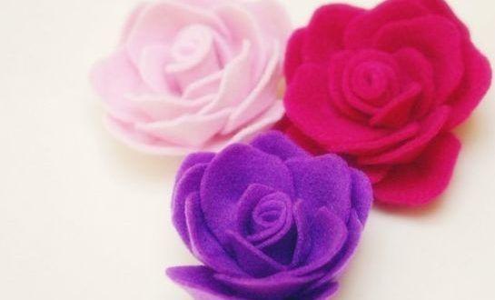 Rosas de feltro são lindas e diferentes