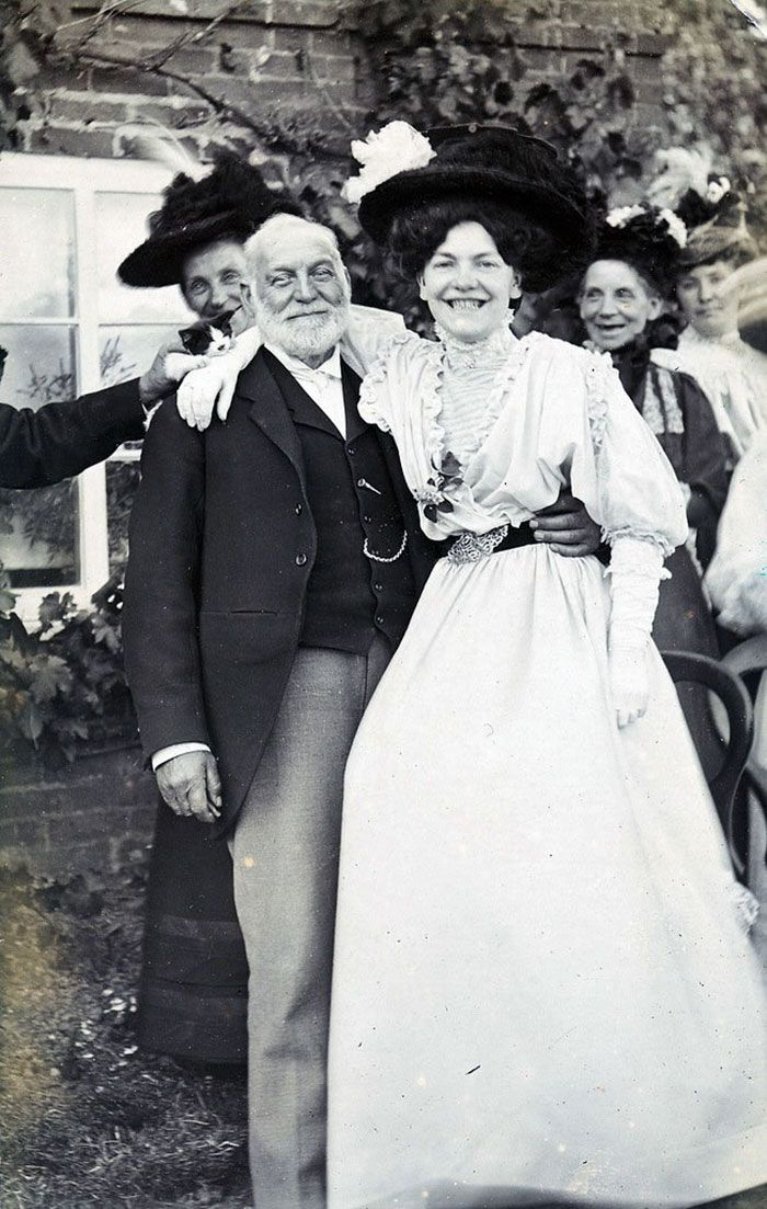 A Group Of Smiling Edwardians