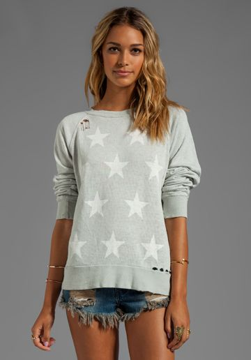WILDFOX COUTURE Starshine Malibu Sweater in Smoke (We Have Pink Too!!!) - Wildfox Couture