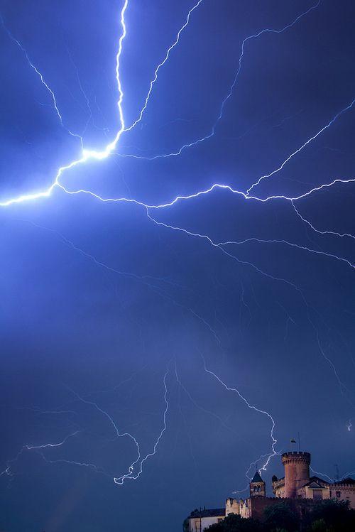 Lightning over Castelldefels, Spain