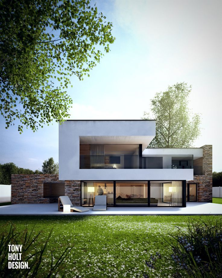 Best 25 modern houses ideas on pinterest modern homes Modern villa plan