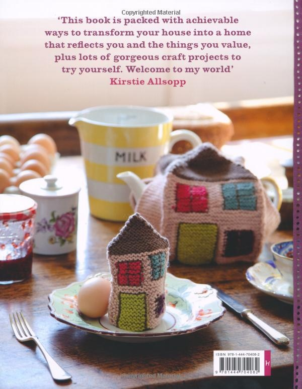 Kirstie Allsopp's lovely tea cosy and egg cosy. I really want a knitted house. x