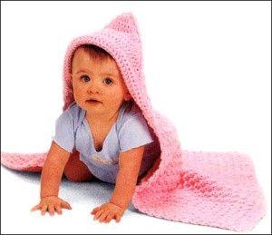 Hooded Baby Blanket (Crochet)