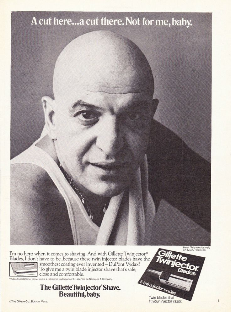 "1976 Gillette Razors Ad ""Telly Savalas"""