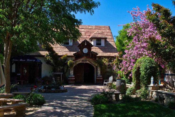 Welcome to The Land of Enchantment — Briar Rose Winery in the rolling hills of Temecula. When Beldon Fields purchased the land in the 1970s, he worked for Walt Disney and was one of the artists who built Disneyland's Fantasy Land and Toon Town.