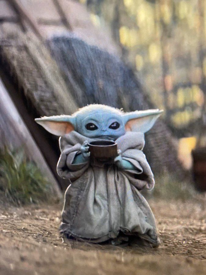 Image Result For Baby Yoda Eating Soup Yoda Wallpaper Yoda Images Star Wars Baby