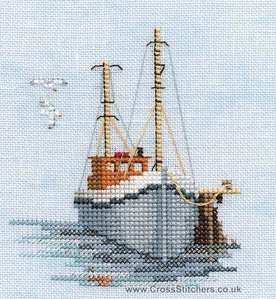 Fishing Boat - Minuets - Cross Stitch Kit from Derwentwater Designs
