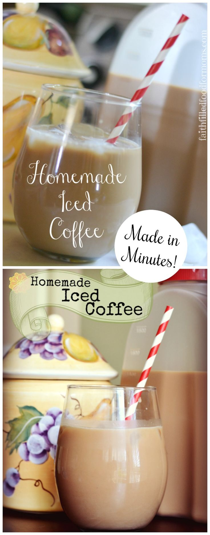 Learn how to Make this easy homemade Iced Coffee Drink recipe at  home and save yourself TONS of money! Better than going to the coffee stand and with only a few ingredients. YUM! #diy #coffee #recipe #coffeetime #coffeeaddict