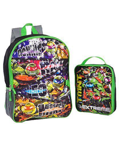 Teenage Mutant Ninja Turtles Boys' Backpack with Lunch Kit. #Teenage #Mutant #Ninja #Turtles #Boys' #Backpack #with #Lunch
