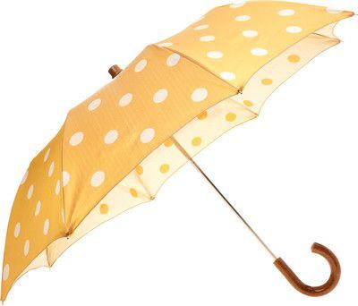 Barneys New York Dot Folding Umbrella - Yellow