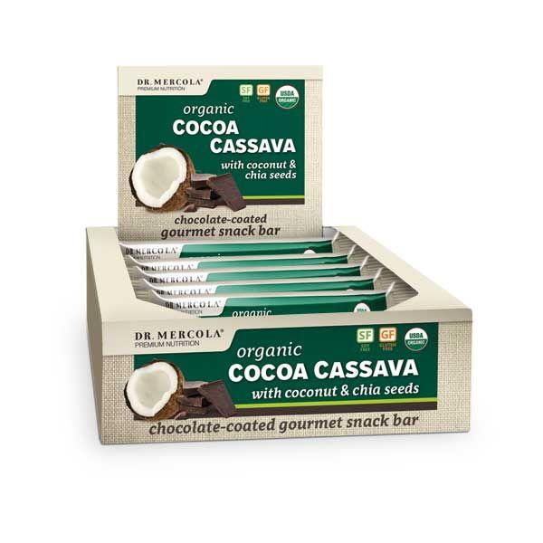 Descubra esta barra de proteína orgánica que tiene el equilibrio perfecto de proteína, grasas y fibra que realmente promueve una salud óptima. http://productos.mercola.com/barras-de-cocoa-cassava/