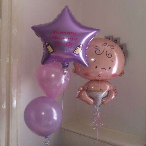 Baby Shower  decorando con globos Mylar