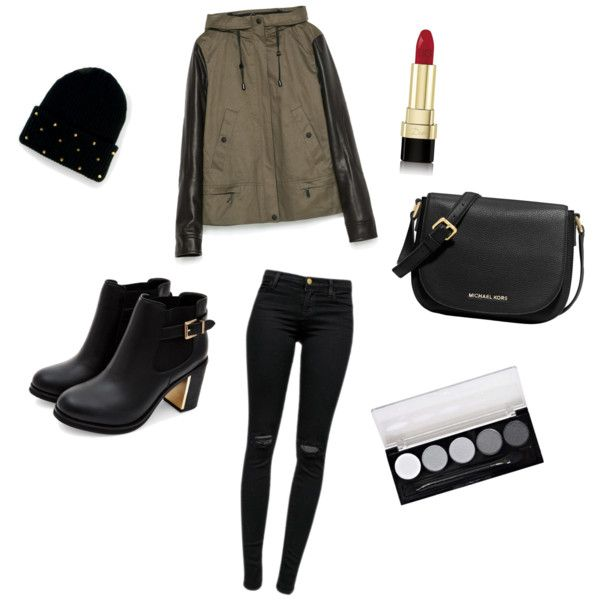 Fashionable set for fall by sostudd on Polyvore featuring Zara, J Brand, MICHAEL Michael Kors, San Diego Hat Co. and Dolce&Gabbana